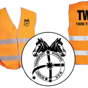 Orange high vis vest